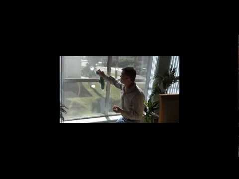 how to clean double pane windows video