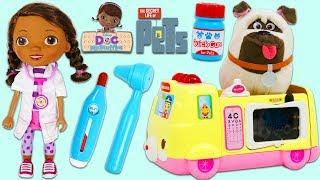 Secret Life of Pets Mel Visits Disney Jr Doc McStuffins Toy Hospital for Help!