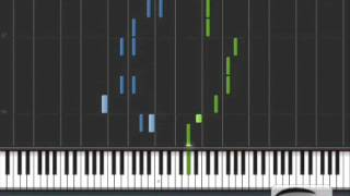 Bruno Mars - The lazy song (synthesia piano)