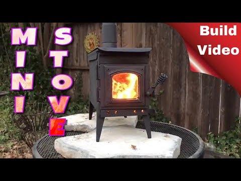 homemade mini wood burning stove