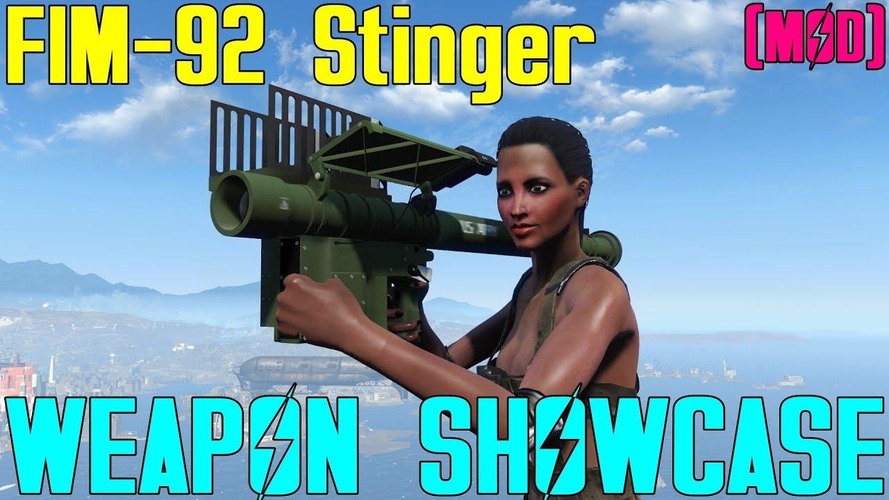 Fallout 4: Weapon Showcases: FIM-92 Stinger (Mod) by Captainoob
