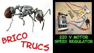 BRICO TRUCS:  regulation de vitesse pour moteurs 220V