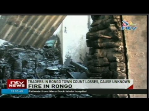 Traders in Rongo town count losses after fire guts down shops