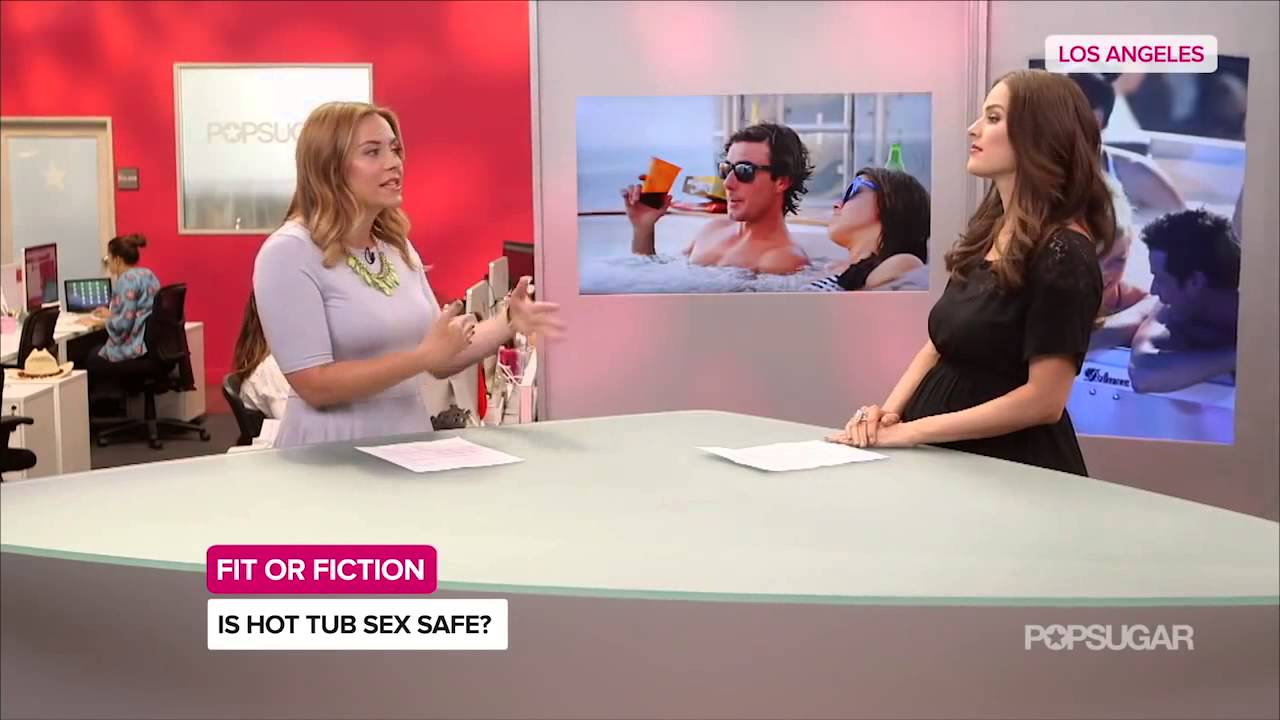 Hot in safe sex tub
