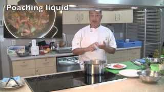 How To Cook Poached Salmon With Spinach And Orange Salad. Chef Ian Lai.