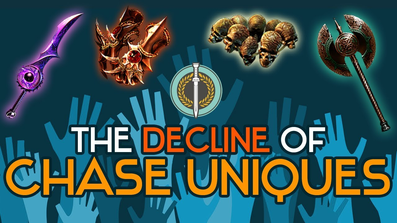 path of exile the decline of chase uniques youtube