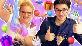 XXL Geburtstags Slime | Eva's Lieblingslime zum Geburtstag | Slime DIY mit Claudio | Birthday Slime