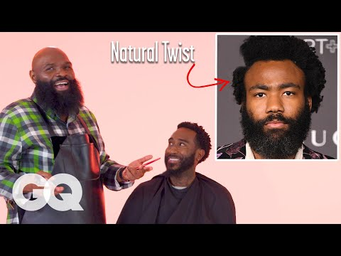 childish-gambino's-natural-hair-with-a-part-haircut-recreated-by-a-master-barber-|-gq