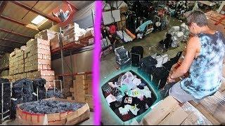 INSANE HOMEMADE FOAM PIT FULL OF SHIRTS!! (1000+)