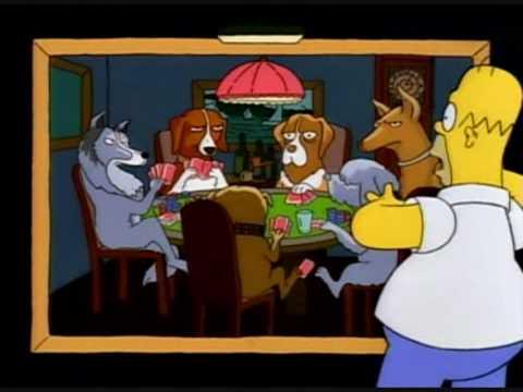 Simpsons Perros Jugando Al Poker Castellano Youtube