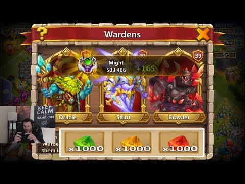 JT's Main Level 40 Wardens Explaing HOW Wardens WORK Castle Clash