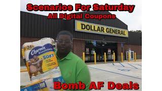 Dollar General Scenarios For Saturday 7/6 - All Digital Coupons - Super Duper Hot Hot!