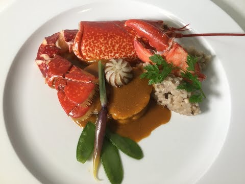Duo de lotte et homard à l'américaine
