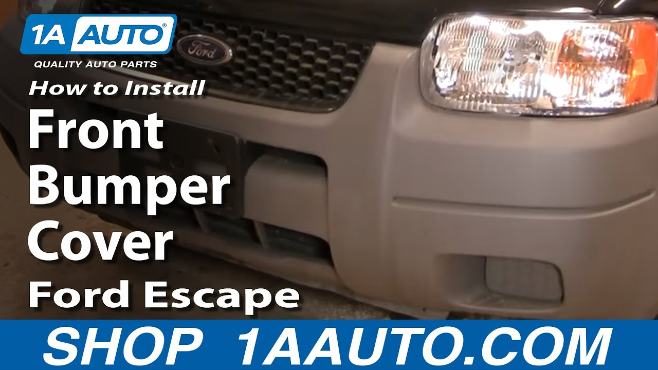 how to install replace front bumper cover ford escape 01 air horn wiring diagram wolo air [ 1280 x 720 Pixel ]