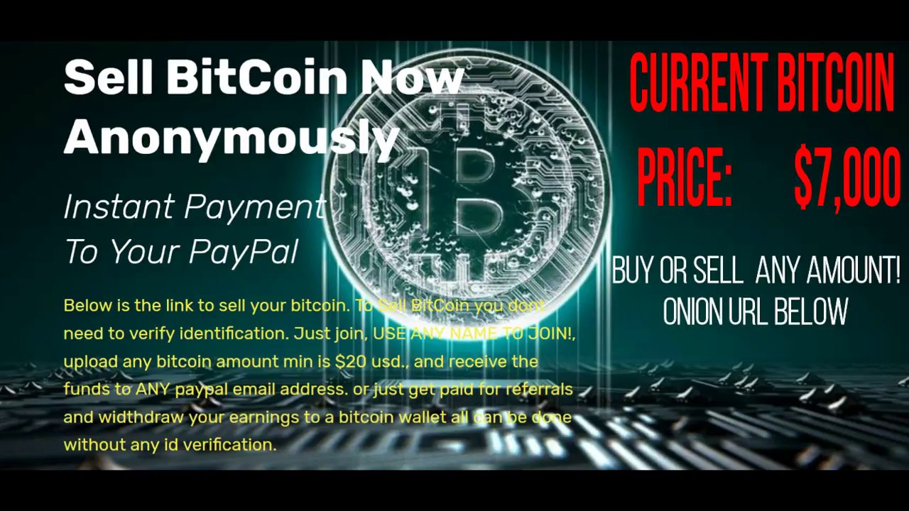 sell bitcoin anonymously