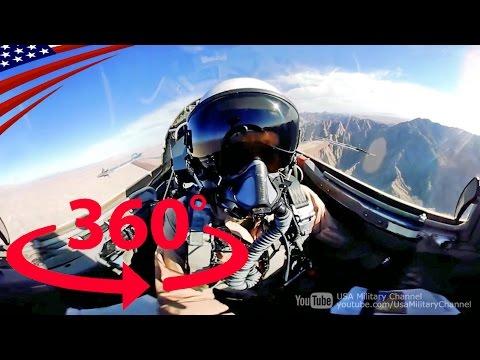 すごい迫力!戦闘機の360度コックピット映像【360度動画】 – Amazing 360° Cockpit View: Fighter Jet Flying [360° Video]