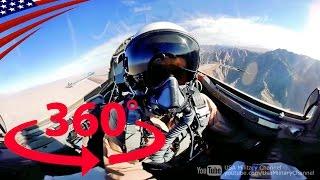 すごい迫力!戦闘機の360度コックピット映像【360度動画】 - Amazing 360° Cockpit View: Fighter Jet Flying [360° Video]