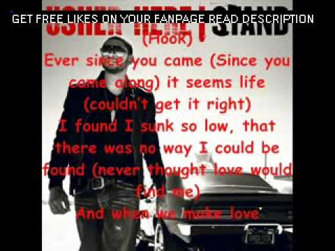 USHER - HERE I STAND (with lyrics)