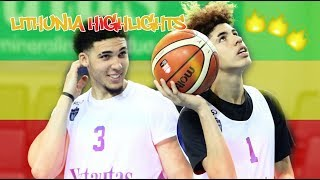 LaMelo and LiAngelo Ball Lithuania Debut | FULL HIGHLIGHTS 2018