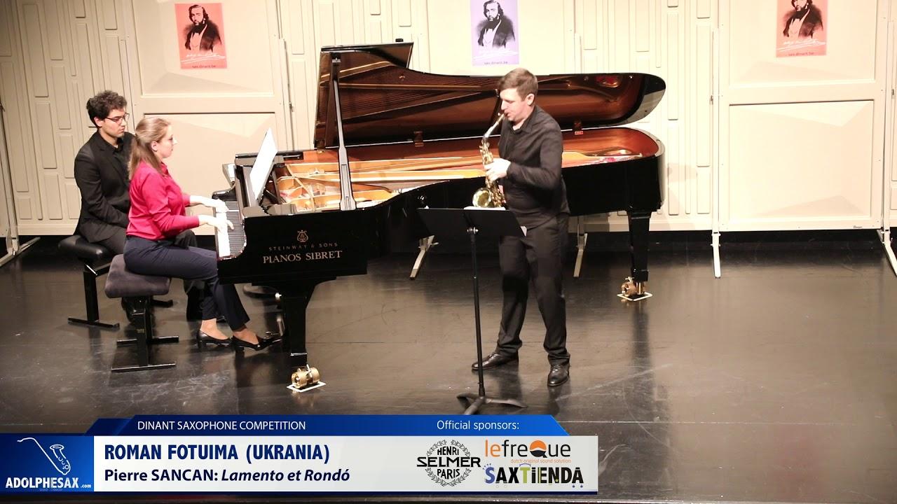 Roman Fotuima (Ukraine) - Lamento et Rondó by Pierre Sancan (Dinant 2019)