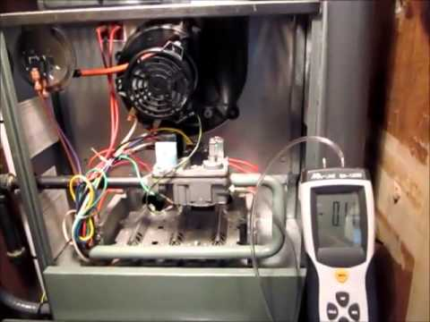 Testing And Adjusting Gas Pressure | Rheem 80% Gas Furnace  YouTube