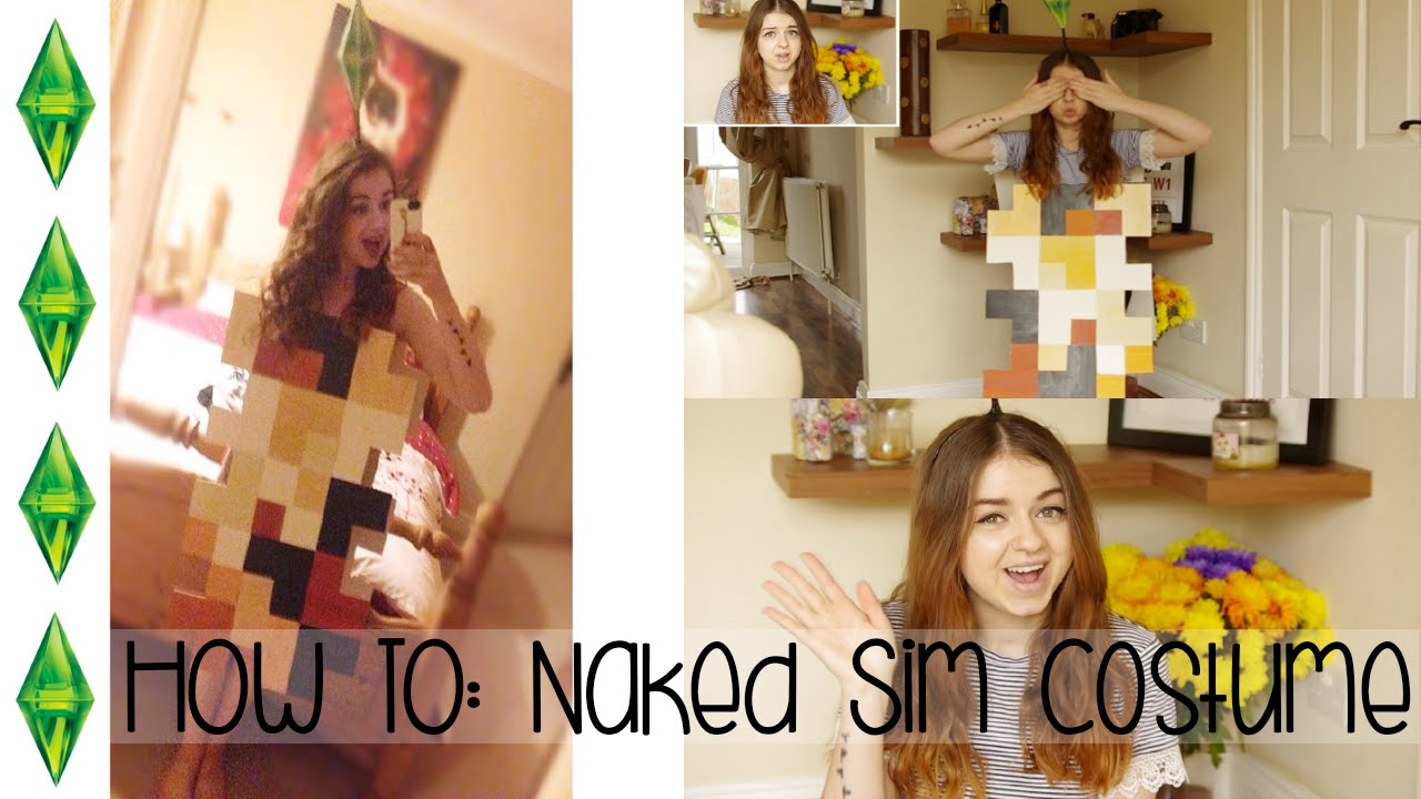 how to • d.i.y naked sim costume - youtube
