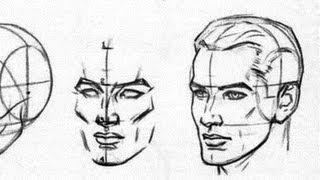 ПРОСТОЙ способ рисования ГОЛОВЫ(Полный курс