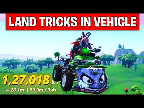 Land Tricks in Vehicle at Different Named Locations – DAY 10 REWARD (14 DAYS OF FORTNITE CHALLENGES)