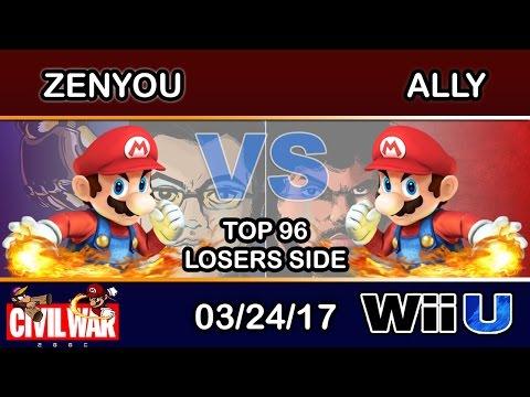 2GGC: Civil War - eM   Zenyou (Mario) Vs. C9   Ally (Mario) Top 96 Losers Side - Smash Wii U