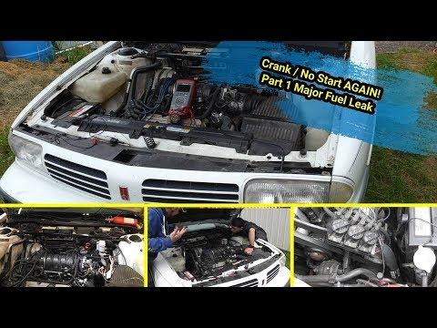 1995 Oldsmobile 88 3800 Series II Crank /No Start AGAIN! Part 1 Major Fuel Leak Repair