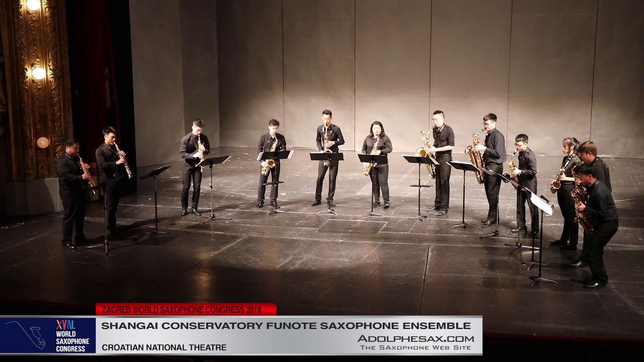 Danzon Nº2 by Arturo Marquez   Shanghai Conservatory Saxophone Ensemble   XVIII World Sax Congress 2