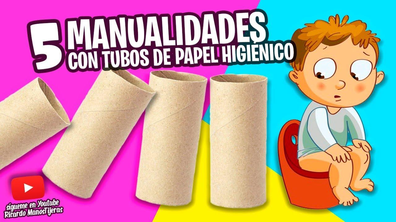 5 Manualidades Con Tubos De Papel Higiénicomanualidades Reciclajediy
