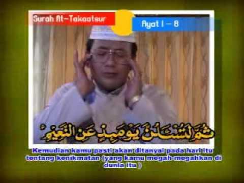 shiekh muammar za - surah  'AT-TAKAASTUR' verse 1 - 8