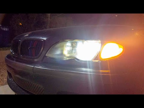 HID Lights Test Drive At Night... I Don't Like Them!!