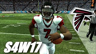 RUNNING TO THE PLAYOFFS - MADDEN 07 PS2 FALCONS FRANCHISE VS PANTHERS - S4W17