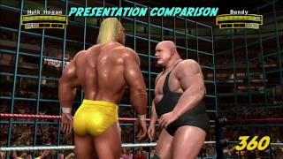 WWE: Legends of Wrestlemania - Xbox 360 vs PS3 (HD)