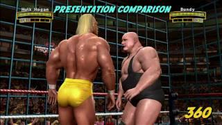 WWE: Legends of Wrestlemania - Xbox 360 vs PS3 (HD)