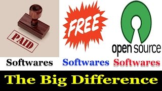 Difference Between Free Software , Paid Software , Open Source Software!!
