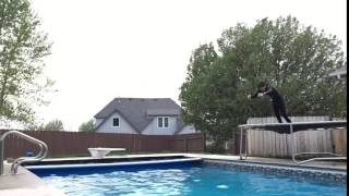 Triple Front Flip Into Pool Back Buster
