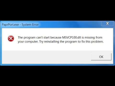 MSVCP100 dll is missing error on games solution fixed!! - YouTube