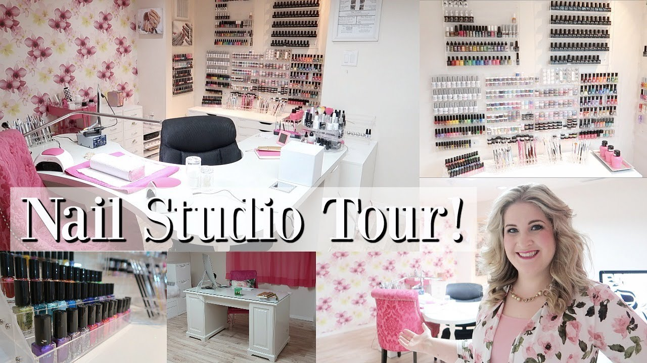My Nail Studio Tour! | Home Based Nail Business - YouTube