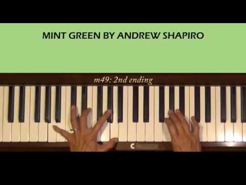 Mint Green by Andrew Shapiro Piano Tutorial Part 1