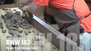 Rww183 Picnic Style Dining Table Part 1