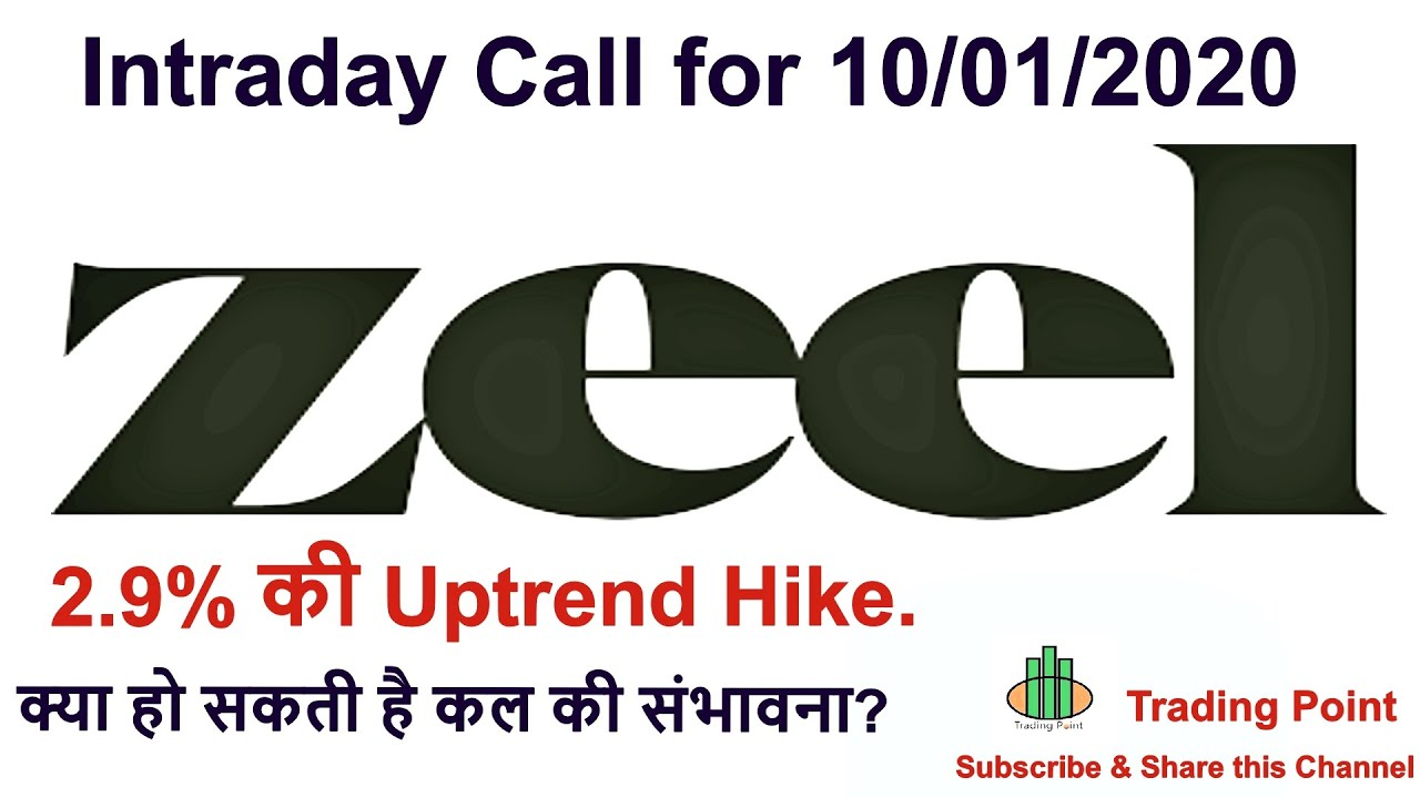 Zee Entertainment share latest News. ZEEL share Intraday levels & Tips for 10/01/2020.