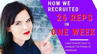 Network Marketing on Facebook - How We Recruited 26 Reps In One Week