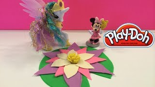 Play Doh Water Lily with Princess Celestia (My Little Pony Friendship is Magic) and Disney Minnie