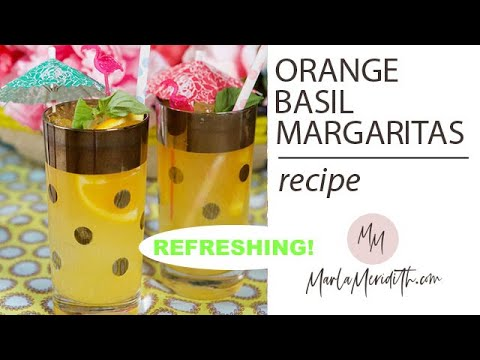 Orange Basil Margaritas recipe