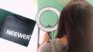 Neewer 14 inch LED ringlight unboxing +review and assembly