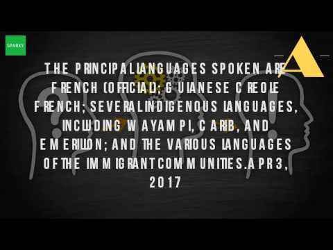 What Is The Official Language Of The French Guiana?