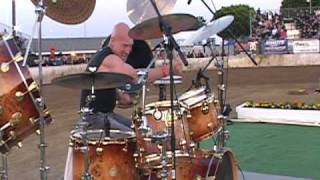 chris slade from acdc at costa mesa speedway on opening night 2010